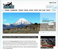 website design adventure national park